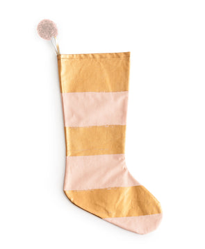 "Rosanna ""Anything Goes"" Pink & Stripe Stocking"