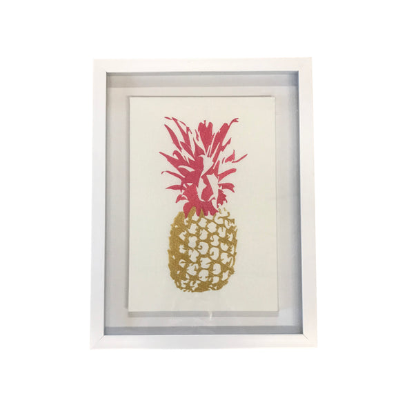 Embroidered Pineapple Canvas