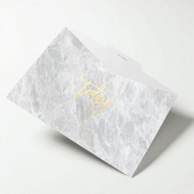 Gold Hot Stamped Marble File Folders