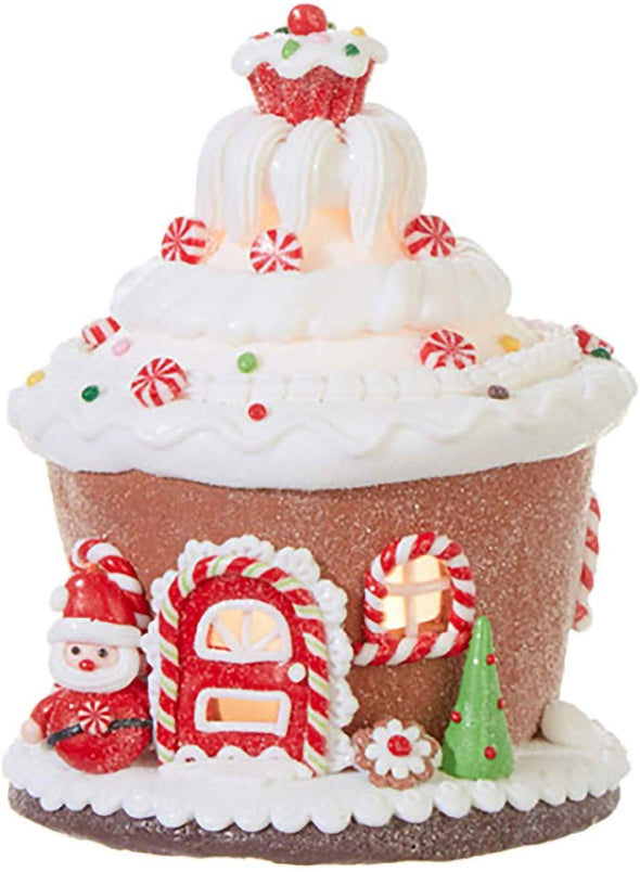Cupcake Gingerbread Lighted House