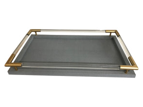 Shagreen Lucite Tray