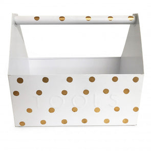 Rachel George Gold Dot Tool Box