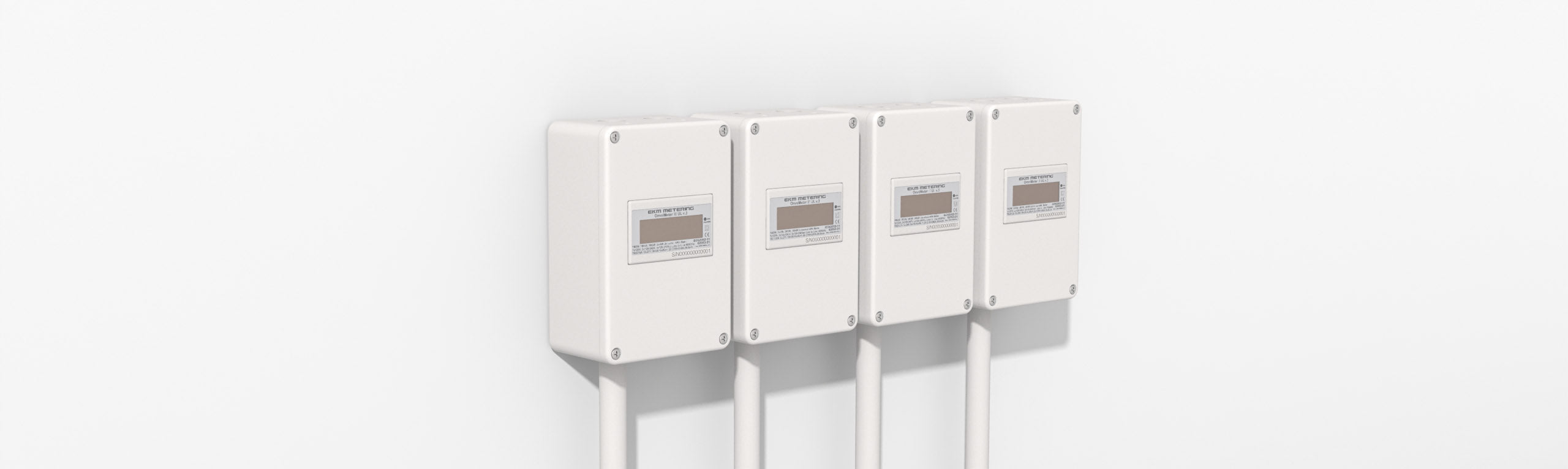 Four EKM meters in enclosures