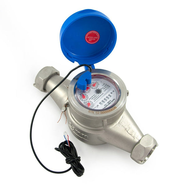 "1"" Water Meter - Stainless Steel, Pulse Output - EKM Metering Inc."