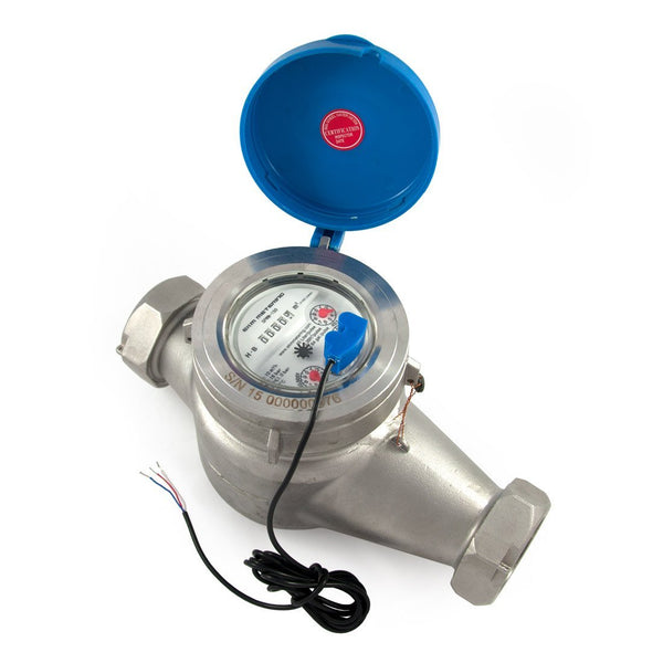 "1.5"" Water Meter - Stainless Steel, Pulse Output - EKM Metering Inc."