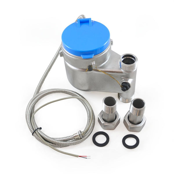"3/4"" Vertical Water Meter - Stainless Steel, NSF 61, High Definition, Pulse Output - EKM Metering Inc."