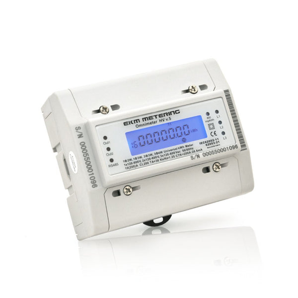 EKM Omnimeter HV v.5 – Universal Single and Three Phase up to 480V, Pulse Counting, Relay Controlling, Universal Smart Electric Meter - EKM Metering Inc.