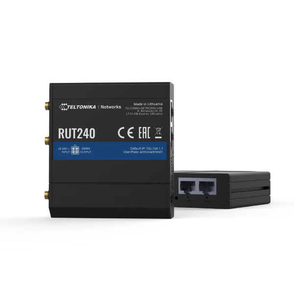 Teltonika RUT240 Cellular Router With Two Year LTE Unlimited Data Plan - EKM Metering Inc.