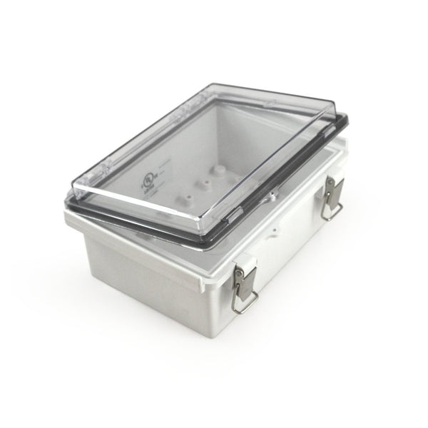 "Watertight Enclosure with Hinged and Latching Lid - UL Listed - 5.32"" x 7.28"" x 3.35"" - EKM Metering Inc."