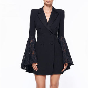 Spring 2020 Lace Sleeve Coat Dress...