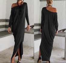 "Load image into Gallery viewer, ""The Weekender Too"" Off Shoulder Dress"