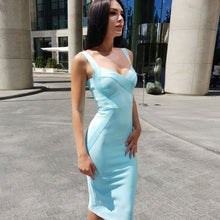 Load image into Gallery viewer, Sleeveless Bodice Strap Bandage Dress