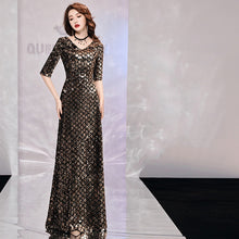 Load image into Gallery viewer, High Quality Argyle Sequin Formal Gown                 Size S-XXL