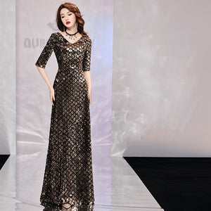 High Quality Argyle Sequin Formal Gown                 Size S-XXL