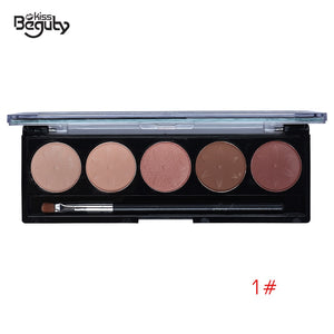 5 Color Matte Eyeshadow Palette Eye Shadow Waterproof Makeup Earth Color Smooth Powder Natural Nude Cosmetics