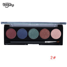 Load image into Gallery viewer, 5 Color Matte Eyeshadow Palette Eye Shadow Waterproof Makeup Earth Color Smooth Powder Natural Nude Cosmetics