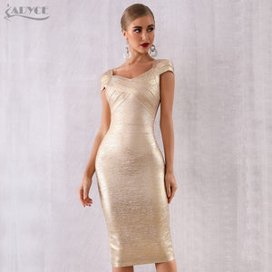 Navarra Gold New Year's Eve Dress