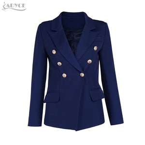 Short Double Breasted Cotton Jacket #2                 Black Royal Blue Sky Blue