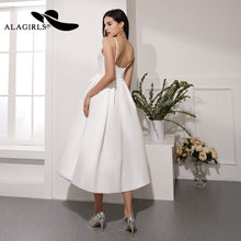 Load image into Gallery viewer, Short A Line Evening Dress Sexy Spaghetti Strap Evening Gown Backless Party dress