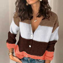 Load image into Gallery viewer, V Neck Casual Knitted Sweater