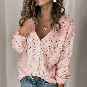 V Neck Casual Knitted Sweater