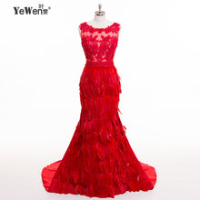 Load image into Gallery viewer, Feather fomal Evening gowns