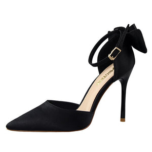 Silk Satin Bow Back Mary Janes