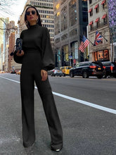 Load image into Gallery viewer, Long Bell  Sleeve and Flared Pant Jumpsuit..