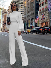 Load image into Gallery viewer, Long Bell  Sleeve and Flared Pant Jumpsuit
