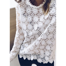 Load image into Gallery viewer, Embroider White Lace Top