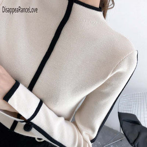 Cashmere Mock Neck  Pullover Sweater