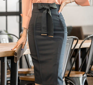 Super Power Stretch High Waist Pencil Skirt,