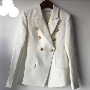 Double Breasted Montford Blazer            Black or White