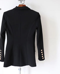 Double Breasted Blazer with Metal Buttons   (Black or Red )