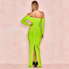Load image into Gallery viewer, High Quality  Long Sleeve Off Shoulder Long Bandage Dress