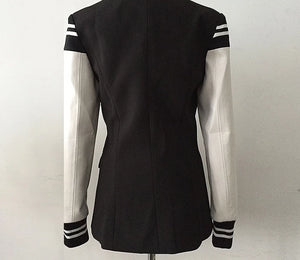 Double Breasted Letter Jacket Coat Dress