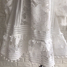 Load image into Gallery viewer, Solid White  Lace Dress