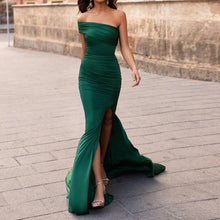 Load image into Gallery viewer, Sexy Off Shoulder Drape Bodice Goudet Gown