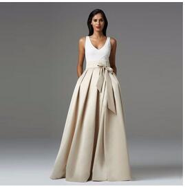 Formal Box Pleat Skirt With Bow