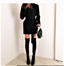 Load image into Gallery viewer, Italian runway wrap coat dress