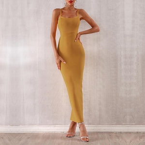 Timeless Spaghetti Strap Column Dress