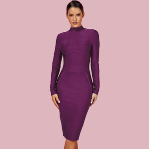 Ferrari  Super Stretch Mock Neck  Dress  in 6 colors