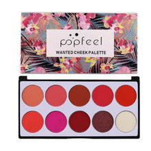 Load image into Gallery viewer, 10 Tray Color Palette Blush The Rouge Brighten Orange Pink Naturally Delicate Smooth Face Cream Contouring Blush Makeup Set