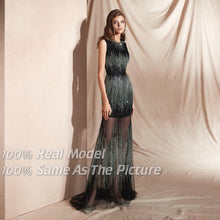 Load image into Gallery viewer, Long Beaded Special Occasion Dress
