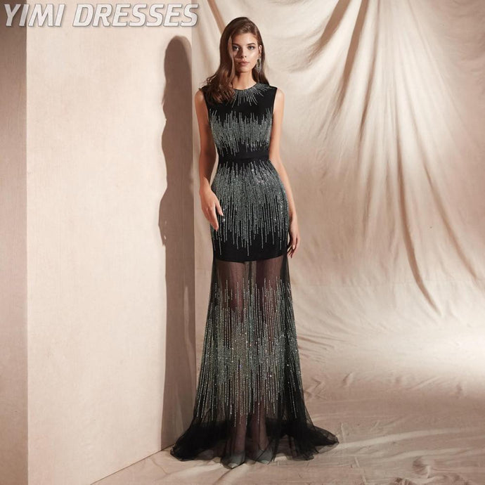 Long Beaded Special Occasion Dress