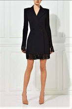 Load image into Gallery viewer, Beaded Fringe Double Breasted  Coat Dress