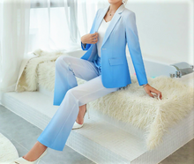 Load image into Gallery viewer, Ombre Single Breasted Pant Suit  Blue or Red