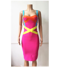 Load image into Gallery viewer, Super Stretch Sweet Heart Neck Line Bandage Dress                     Several Colors