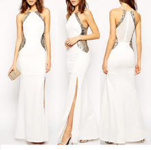 Load image into Gallery viewer, Sexy Womens Slim Fit Halter Sequins Sleeveless Evening Gown