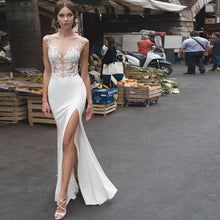 Load image into Gallery viewer, Navarra Mermaid Wedding Dress Sexy                       Side Slit